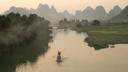 Tourism, karst scenery, rafting, beautiful, nature Stock Video Footage