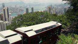Tourism, tram, Hong Kong, city, skyline Footage