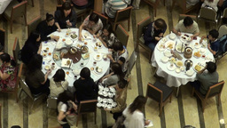 Food, traditional, tables, restaurant, China, Chin Stock Video Footage