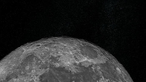 Approaching the Moon Stock Video Footage