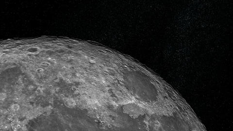 Approaching The Moon stock footage