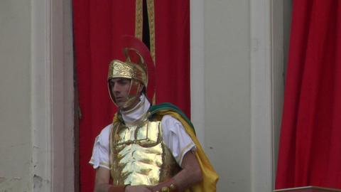 roman legionaries 02 Stock Video Footage