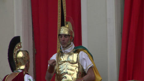 roman legionaries 02 Stock Video Footage