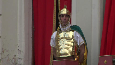 roman legionaries 04 Stock Video Footage