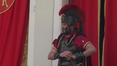roman legionaries 06 Stock Video Footage