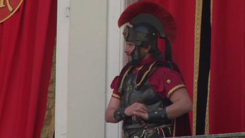 roman legionaries 06 Stock Video Footage
