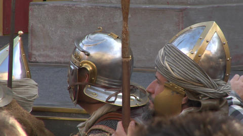 roman legionaries 08 Stock Video Footage
