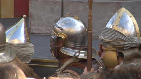 roman legionaries 08 Stock Video Footage