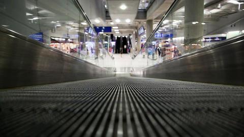 Moving sidewalk in airport Stock Video Footage