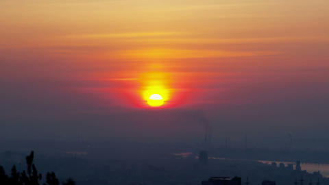 Sunrise, Time Lapse stock footage