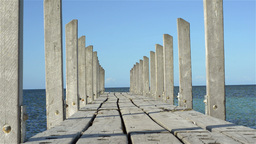 Tracking Shot of a Small Jetty Stock Video Footage
