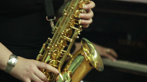Hands play wind instrument 14 Stock Video Footage