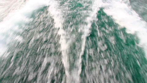Wake behind the power boat Footage