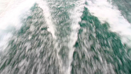 Wake behind the power boat Stock Video Footage