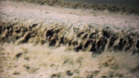 Raging Flood Waters In Dallas 1948 Vintage 8mm Stock Video Footage