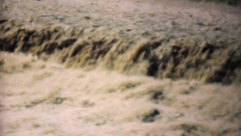 Raging Flood Waters In Dallas 1948 Vintage 8mm Stock Video Footage