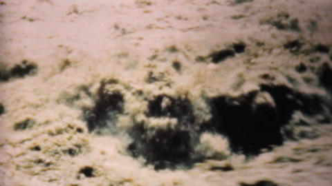 Swollen Flooded River In Dallas 1948 Vintage 8mm Stock Video Footage