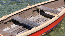 Old Red Boat stock footage