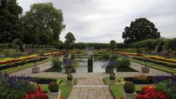 The Sunken Garden Kensington Palace London UK 3 Footage