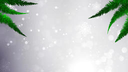 Christmas Tree with Falling Snowflakes and white Stars Motion Background Animation