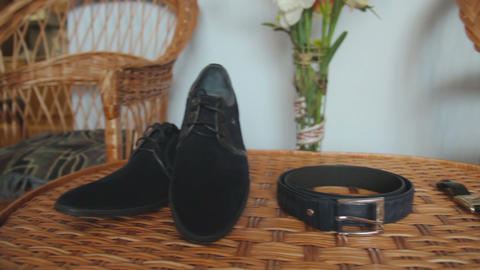 Men's shoes, belt and watch Live Action