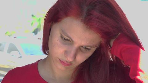 Sad Or Depressed Teen Stock Video Footage