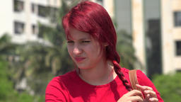Unhappy Teen Female Redhead Live Action