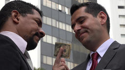 Business Men Exchanging Money Or Bribery Live Action