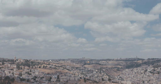 Time lapse of clouds over Jerusalem, Israel