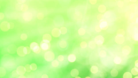 Green abstract motion background, drifting bokeh Animation