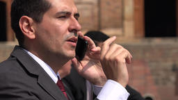 Business Man Talking On Cell Phone Footage