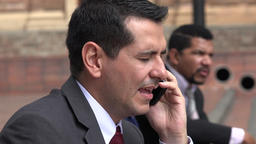 Upset Business Man Hears Bad News On Phone Call Live Action