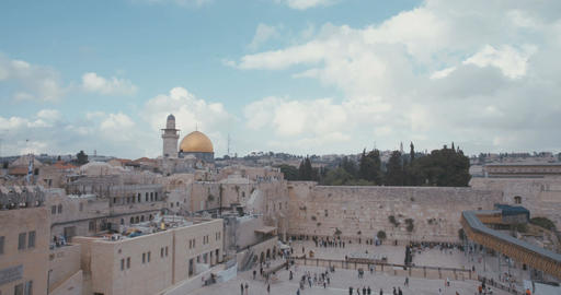 Timelapse of the Western Wall in old city Jerusalem Footage