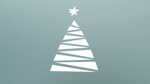 Christmas tree pop up CG動画素材