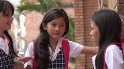 Child Friends Talking At School Footage