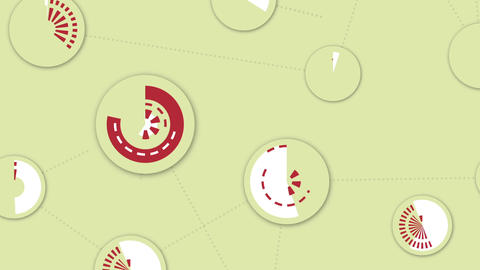 Sweeping circle network, motion background Animation
