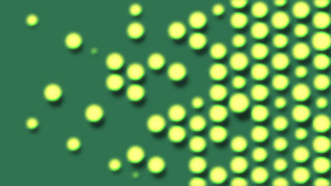 Glowing dots popping up and disappearing. Abstract animation background Animation