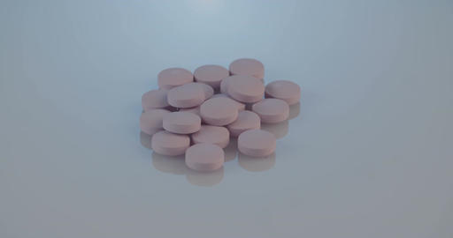 Close up shot of prescription drugs on a reflective surface Footage