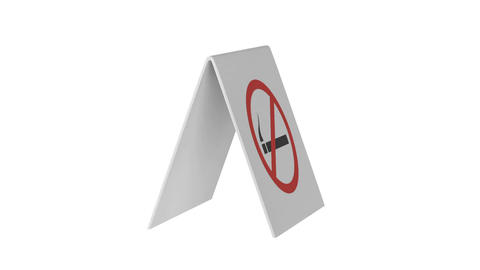 No smoking sign Animation