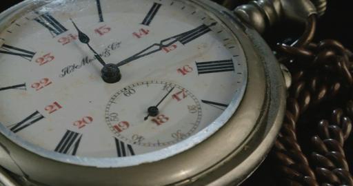 Macro shot of an antique pocket watch
