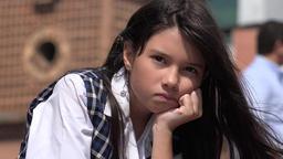 Sad Girl Depressed Child Footage