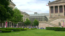 The Alte Nationalgalerie (Old National Gallery) in Berlin Footage
