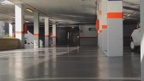 Underground Garage Parking Lot Entrance Footage