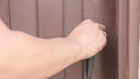 Unlocking Door And Openning Door Live Action