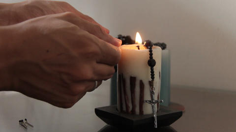 Lighting A Religious Candle Live Action
