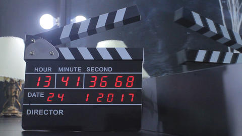 Movie Clapperboard Or Clap Board Live Action