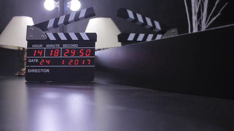 Electronic Clapper Board Or Film Slate Footage