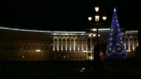 Christmas tree glittering Footage