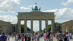 The Brandenburg Gate in Berlin - one of the best known landmarks of Germany Footage