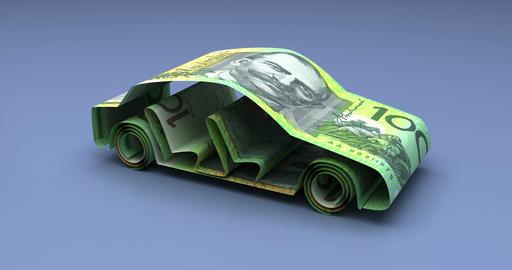Car Finance with Australian Dollars Animation